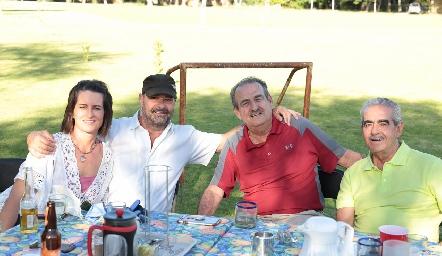 Isabel Torre, Renato Valle, Guillermo Borbolla y Mariano Borbolla.