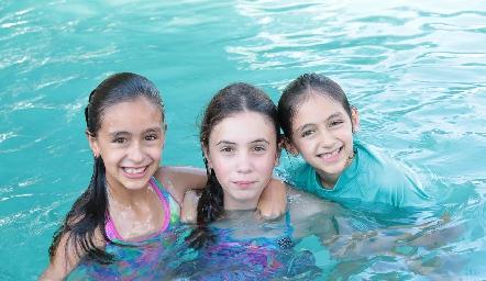 Inés, María y Luisa.