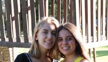 Emilia García y Selene Rosales.
