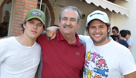 Caco Corripio, Guillermo Borbolla y Marcelo González.