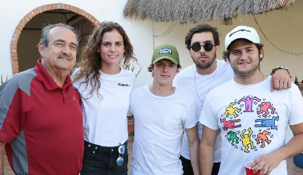 Guillermo Borbolla, María Benavente, Caco Corripio, Alejandro Navarro y Marcelo González.