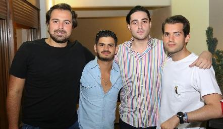 Miguel Gaviño, Oscar Cabrera, Roberto Zollino y Pablo Zendejas.