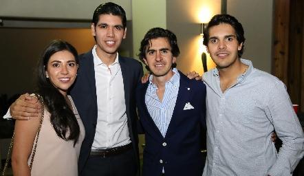 Cristy Lorca, Rafael Tobías, Memo Gómez y Mauricio Tobías.
