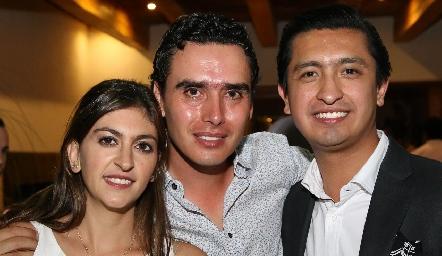 Paty Gómez, Xavier Azcárate y Rafael Villanueva.