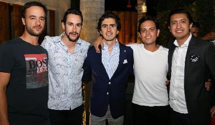 Daniel Villarreal, Everardo Araiza, Guillermo Gómez, Jorge Naya y Rafael Villanueva.