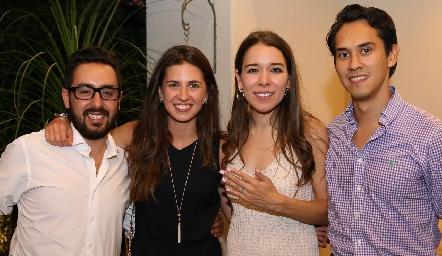 Leo Martínez, Regina Ochoa, Michelle Cano y Juan Gaitán.