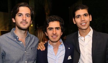 Eduardo Torre, Memo Gómez y Rafael Tobías.