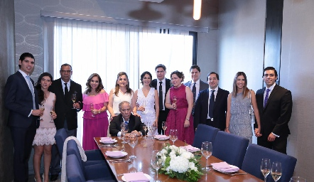 Familia Lorca y familia Gordoa.