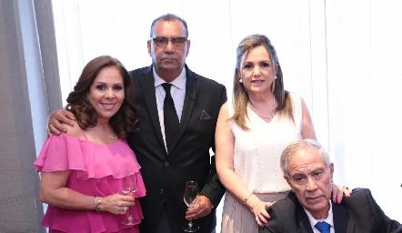 Laura Álvarez de Lorca, José Lorca, Adriana González y Héctor Gordoa.