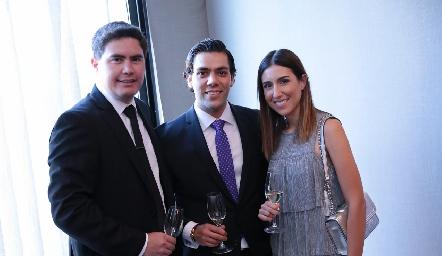 Héctor Gordoa, José Lorca y María Páramo.