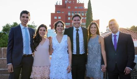 Rafa Tobías, Cristina Lorca, Andrea Lorca, Héctor Gordoa, María Paramo y José Lorca.