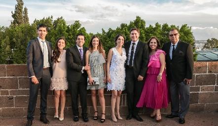 Rafael Tobías, Andrea Lorca, José Lorca, María Paramo, Andrea Lorca, Héctor Gordoa, Laura Álvarez y José Lorca.
