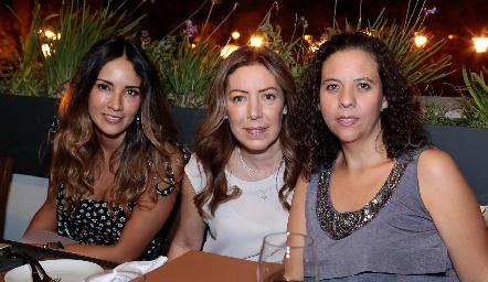 Liliana Soto, Anna Astrid Navarro y Majo González.