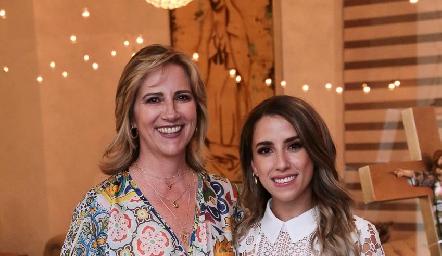 Maru Bárcena y su nuera Ana Gaby Ibarra.