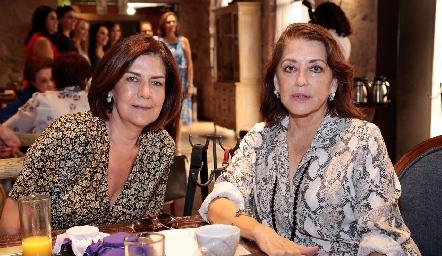 Coco Mendizábal e Irene Rangel.