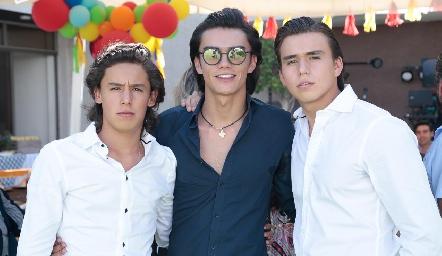 Juan Pablo, Jaime y Óscar Ruiz Torres.