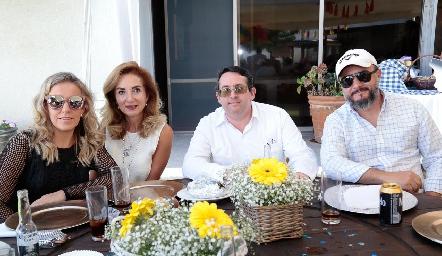 Mónica Torres, Rocío Mexicano, Alfonso de la Barrera y Carlos Díaz de León.