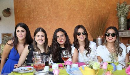 Regina Pichardo, Paola Pichardo, Isa Rosillo, Fernanda González y María José Mata.