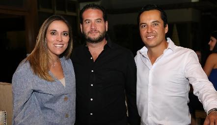 Daniela Llano, Pablo Guerra y Luis de la Rosa.