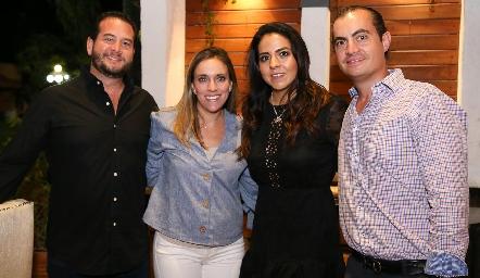 Pablo Guerra, Daniela Llano María Fernanda Castillo y Christian Almazán.