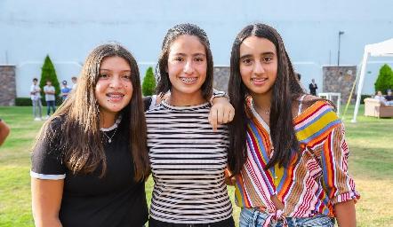 Sofía, Ana Pau y María.