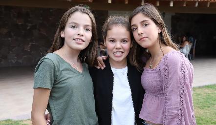 Andrea, Ana Isabel y Julia.