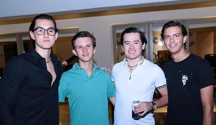 Mau Piña, Nacho MA, Santiago Guevara y José Miguel Meade.