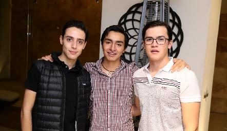 Salomón Dip, Pablo Rodríguez y José.