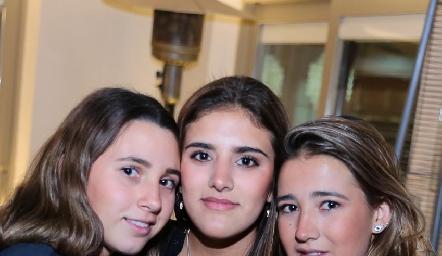 Chiara Pizzuto, Bety Calderón y Elena Pelayo.