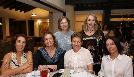 Marlú Mendizábal, Laura Lavín, Lourdes Alcalde, Brenda Álvarez, Laura Faz y Claudia Quintero.
