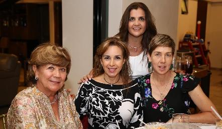 Malusa Alcocer, Diana de la Serna, Sabrina Gaviño y Ana Hunter.
