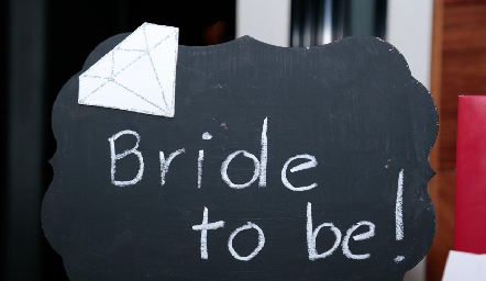 Bride to be.