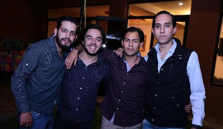 Roger Pérez, Miguel Padilla, Joel González y Guillermo Silva.