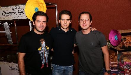 Mauricio Torres, Alejandro Hinojosa y Santiago Aguillón.