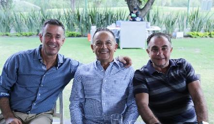Jorge Mendizábal, Octavio Aguillón y Javier Alcalde.
