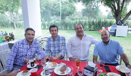 Pepe Maza, Óscar Silos, Óscar González y Marcelo Meade.