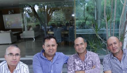 Ricardo Balbontín, Héctor Gutiérrez, Víctor Ortiz y Miguel Abud.