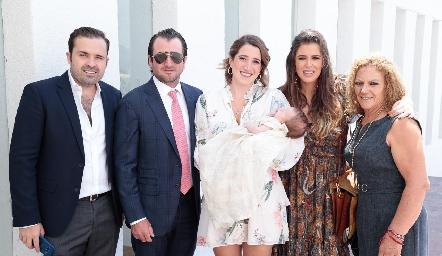 Jaime Rodríguez, Óscar Pérez, Nani Pérez, Sofía López y Carmen Rocha.