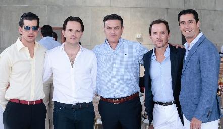 Alejandro Valladares, Tito Herrera, Güicho Fernández, Patricio Quijano y Rafael Lebrija.