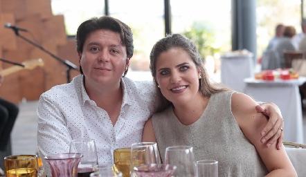Daniel Zollino y Danitza Lozano.