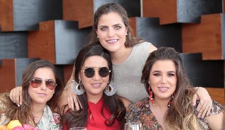 Gaby Franco, Blanca Cantú, Danitza Lozano y Sofía López.