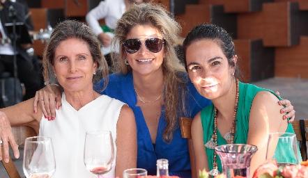 Lourdes Herrera, Lu López y Malena Villasuso.