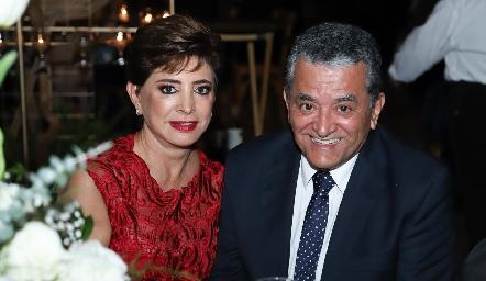 Samira Mustre y Manuel Romo.