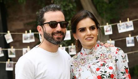 Joaquín y Adriana Olmos.