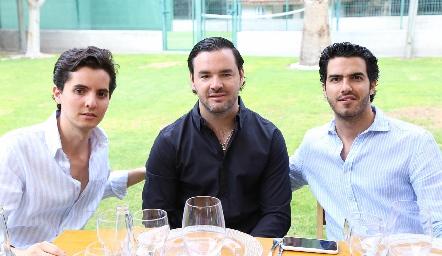 Alejandro Lasso de la Vega, José Antonio Mahbub y Ricardo Gómez.