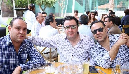 Francisco Torres, Eduardo Martínez y Alejandro Torres.