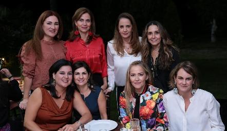 Ana Anaya, Rocío Nieto, Montserrat Fonte, Martha Chalita, Cynthia Sánchez, Lucía Escobedo, Claudia del Pozo y Rocío Gómez.