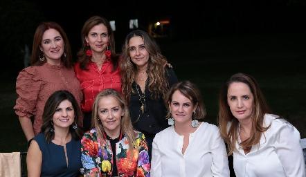 Ana Anaya, Rocío Nieto, Martha Chalita, Lucía Escobedo, Claudia del Pozo, Rocío Gómez y Montse Fonte de Anaya.
