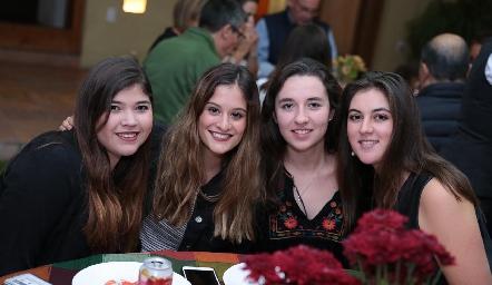 Daniela Gouyonnet, Sofía Medina, Adriana Martins y Mariana Gómez.