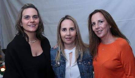 Claudette Mahbub, Claudia Cohen y Claudia Pedroza.